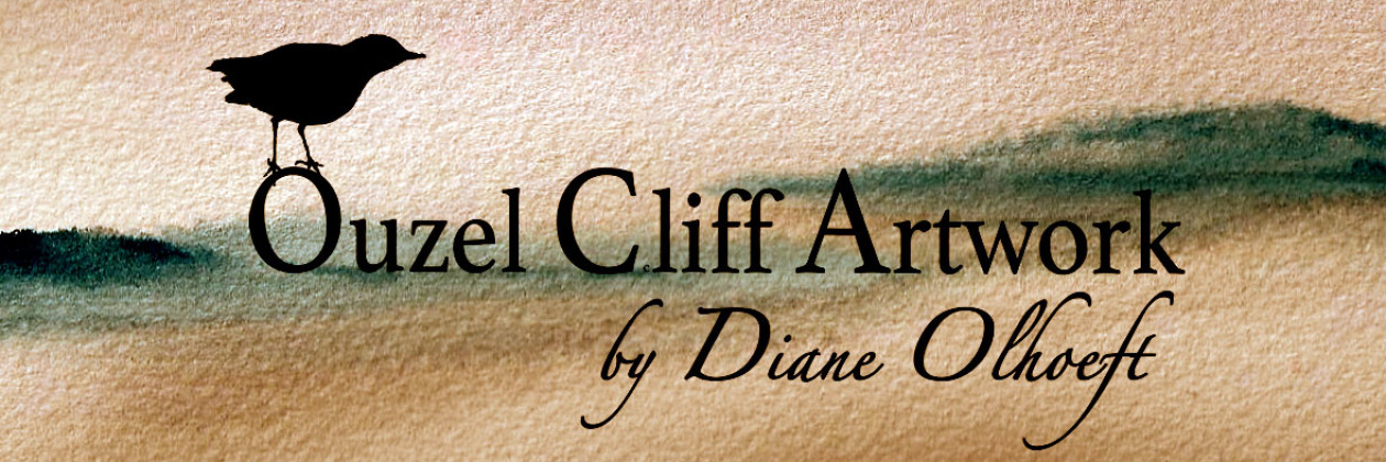 Ouzel Cliff Artwork by Diane Olhoeft